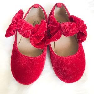 GAP Toddler Red Velvet Mary Janes size 7